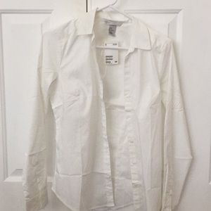 White H&M button down size 8 US new with tags